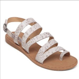 Lucky Brand Snakeskin Strappy Sandals - 7